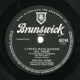 "【SP盤】GB BRUNSWICK 05744 SYLVIA SYMS Loewe,Lerner I COULD HAVE DANCED ALL NIGHT (from the Musical Production ""My Fair Lady"")/Stallman,Shapiro BE GOOD (To Me)"