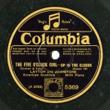【SP盤】GB COL 5369 LAYTON and JOHNSTONE Kalmar&Ruby THE FIVE O CLOCK GIRL -UP IN THE CLOUDS/-THINKING OF YOU