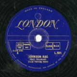【SP盤】GB LON L.501 JACK TETER TRIO Hall,Kleinkauf JOHNSON RAG/Walter Goodwin BACK OF THE YARDS