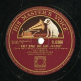 【SP盤】GB HMV B.6366 RAY NOBLE Valentine,John&Broones I ONLY WANT ONE GIRL -FOX-TROT/A COUPLE OF FOOLS IN LOVE -FOX-TROT
