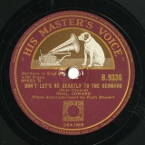 【SP盤】GB HMV B.9336 NOEL COWARD Noel Coward DON T LET S BE BEASTLY TO THE GERMANS/Clemence Dane THE WELCOMING LAND