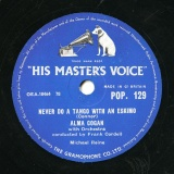 【SP盤】GB GRA POP.129 ALMA COGAN Connor NEVER DO A TANGO WITH AN ESKIMO/Tepper-Bennett TWENTY TINY FINGERS
