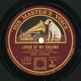 "【SP盤】GB HMV B 4001 NOEL COWARD NOEL COWARD LOVE OF MY DREAMS (""MIRABELLE""-VALSE)/TWENTIETH CENTURY BLUES"