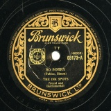 【SP盤】GB BRUNSUICK 3173 THE INK SPOTS TOBIAS,SIMON SO SORRY / RAM,TINTURIN RING,TELEPHONE, RING