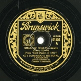 【SP盤】GB BRUNSUICK 1553 GUY LOMBARDO DUBIN WARREN, SHADOW WALTZ / BAXTER, GOING-GOING GONE
