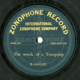 【SP盤】GB ZONOPHONE X-41027  THE WRECK OF A TROOPSHOP