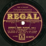 【SP盤】GB REGAL G8973 FLIGHT-LIEUT.J.H.AMERS COMMUNITY SONGS SELECTION