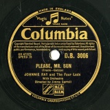 【SP盤】GB COL D.B 3006 JOHNNIE RAY AND THE FOUR LADS BROKEN HEARTED /  PLESE, MR.SUN