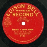 【SP盤】GB EDISON BELL 3443 MARIE NOVELLO RACHMANINOFF PRELUDE / LISZT LIEBESTRAUME