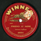 【SP盤】GB WINNER 3554 EDWARD HALLAND SPPED THE PLOUGH FRIEND O MINE