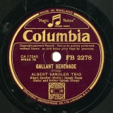 【SP盤】GB COL FB 2278 ALBERT SANDLER TRIO DREAM SERENADE / GALLANT SERENADE