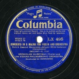 【SP盤】GB COL LX 495 BRONISLAW HUBERMAN CONCERTO IN G MAJOR FOR VIOLIN AND ORCHESTRA K.216
