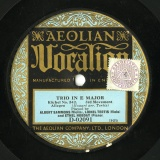 【SP盤】GB AEOLIAN D-02091 ALBERT SAMMONS,LIONEL TERTIS,ETHEL HOBDAY TRIO IN E MAJOR NO.542