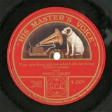 【SP盤】GB HMV 4-2375 ENRICO CARUSO Your eyes have told me whar I did not know
