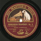 【SP盤】GB HMV B2667 MARK HAMBOURG HUNGARIAN RHAPSODY、No.8