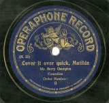 【SP盤】GB OPE 8 Mr.Harry Champiou Cover it over quick,Matilda/Let s have a Basin of Soup