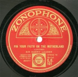 【SP盤】GB ZON G.O.101 SIR HARRY LAUDER PIN YOUR FAITH ON THE MOTHERLAND/I WISH YOU WERE HERE AGAIN