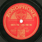 【SP盤】GB ZON 1117 SIR HARRY LAUDER SHE S THE LASS FOR ME/A WEE HOOSE  MANG THE HEATHER