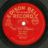 【SP盤】GB EDI 5115 Rene Valma YET YOU FORGOT!/WHEN MY DREAMS COME TRUE(from Sound Films