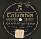 【SP盤】GB COL 4125 ELSA LANCHESTER PLEASE SELL NO MORE DRINK TO MY FATHER/HE DIDN T OUGHTER