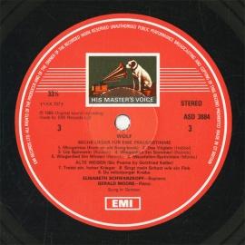 GB  EMI  SLS5197 シュワルツコップ  ウォルフ・歌曲集