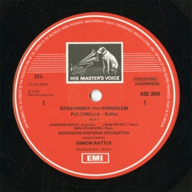 GB  EMI  ASD3604 ラトル  ストラヴィンスキー・プル…
