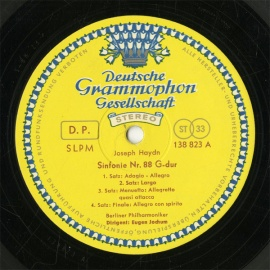 DE  DGG  SLPM138 823 ヨッフム  ハイドン・交響…