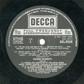 GB  DEC  SXL6658 パヴァロッティ 歌曲集