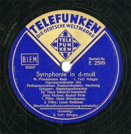 【SP盤】DE TELEFUNKEN E2599 Hans Schm…