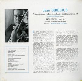 FR  DGG  138 961 フェラス シベリウス・ヴァイオリン…