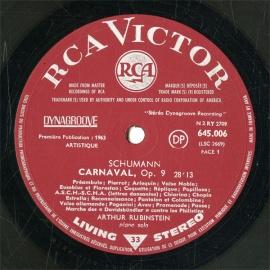 FR  RCA  645.006 ルービンシュタイン シューマン・謝…