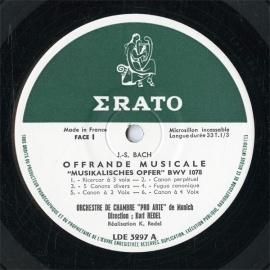 FR  ERATO  LDE3297 クルト・レーデル バッハ・音楽…