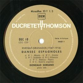 FR  DUC  DUC 10 ソリアーノ  スペインダンス選集