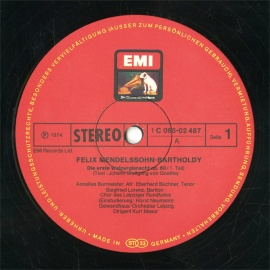 DE EMI  C065-02 487 クルト・マズア メンデルスゾ…