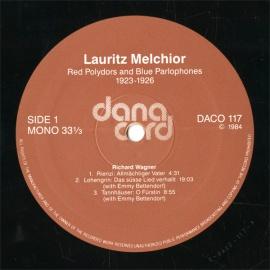 DE DONACORD  DACO117-118 ラウリッツ・メルヒ…