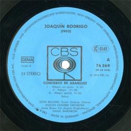 FR  CBS  CBS76369 バレンボイム ロドリーゴ・ギター…