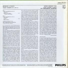 NL  PHIL  SAL3616 アルテュール・グリュミオー ベー…
