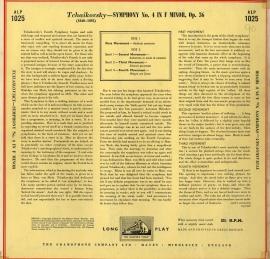 GB  EMI  ALP1025 フルトヴェングラー  チャイコフス…