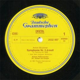 DE  DGG  2532 007 カラヤン ブルックナー・交響曲3番