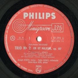 FR PHIL  L01.294L パブロ・カザルス ブラームス・弦…