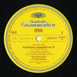 DE DGG  2532 011 パールマン ラロ・スペイン交響曲