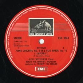 GB EMI  ASD3043 アレクシス・ワイセンベルク ベートー…