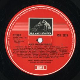 GB EMI ASD2929 ジャネット・ベイカー 歌曲集