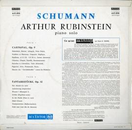 FR RCA 645.006 アルトゥール・ルービンシュタイン シュ…