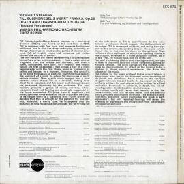 GB DEC ECS674 フリッツ・ライナー R.シュトラウス・テ…