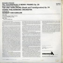 AU DEC SDD211 ヘルベルト・フォン・カラヤン R.シュト…