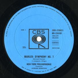 AU CBS 2BR220021 レナード・バーンスタイン マーラー…