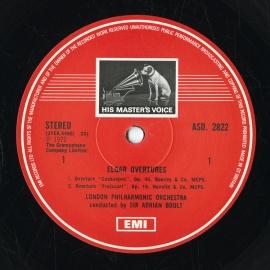GB EMI ASD2822 エイドリアン・ボールト エルガー・序曲集