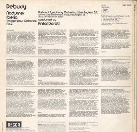 GB  DEC  SXL6742 ドラティ  ドビュッシー・管弦楽