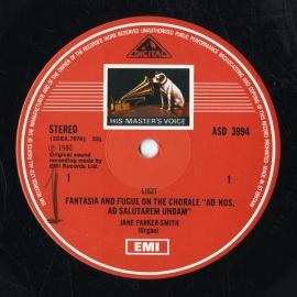 GB EMI ASD3994 ジェーン・パーカー=スミス リスト・幻…